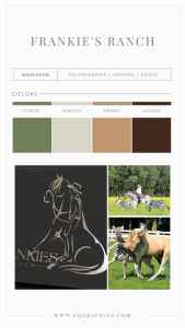 Ideal Color Palette for Western Inspired Trick Horse Ranch Logo