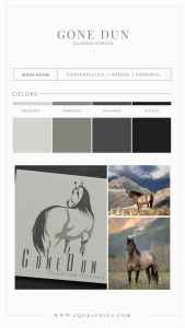 Grulla Horse Looks Back at Viewers in Stunning Gray Logo