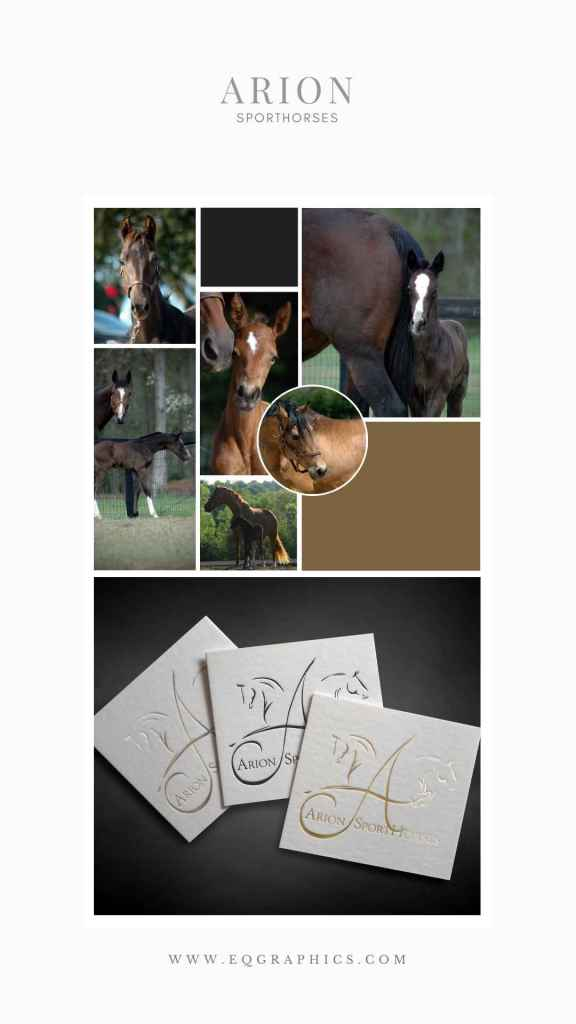 Minimalist Logo Design Combines Dressage & Jumpers for NC Sporthorse Facility