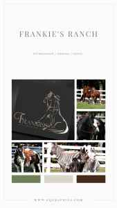 Western Style Custom Logo for Ranch Known for Training Trick Horses