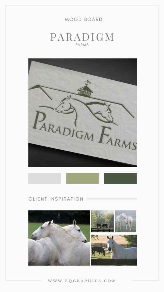 Hand Drawn OTTB Horse Logo for Equine Retirement Facility Delivers Relaxed Branding Identity