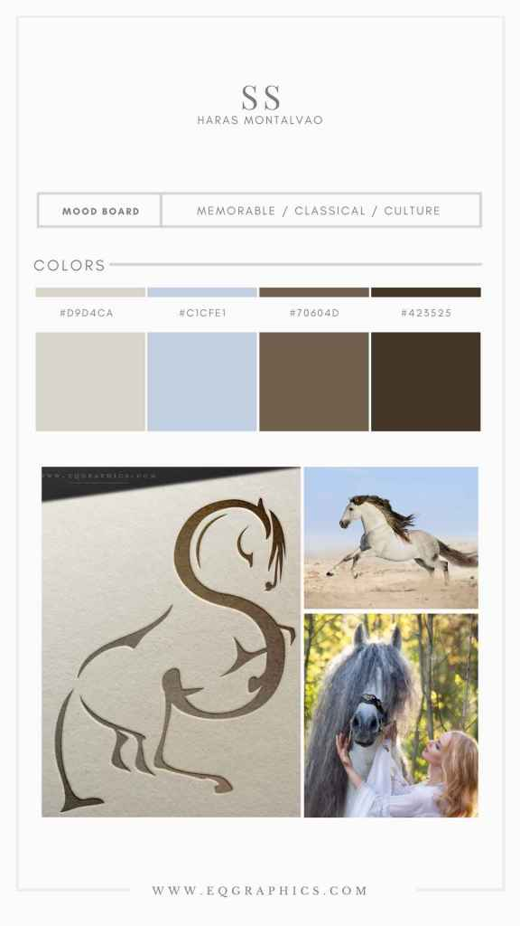 Stunning Andalusian Logo Adds Personal Details to Dressage Breeder's Branding
