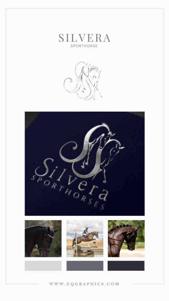 Elegant Eventing Horse Logo With Integrated Letter S Font