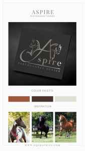 Gorgeous Silver Foil Saddleseat Logo Paired with Neutral Color Palette