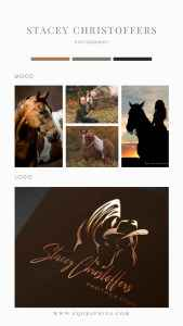 Equine Photographer's Logo Gets Golden Hour Look With Copper Foil
