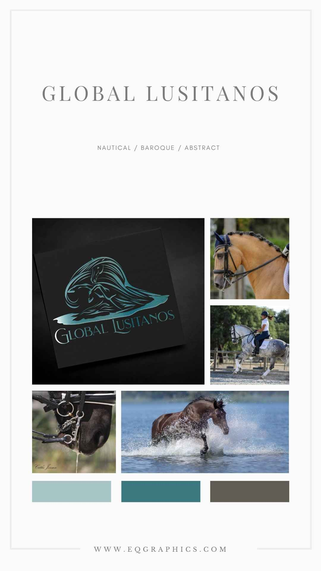 Ocean Blues Complete Brand Look for International Equine Business
