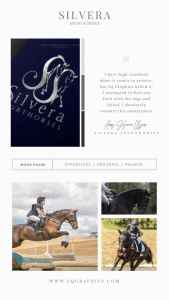 Custom Cross Country Horse Logo with Letter S Monogram Stuns in Silver