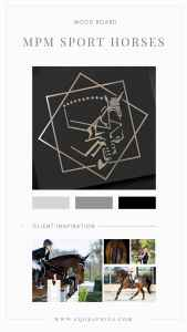 Geometric Jumping Horse Design Brings Personal Touch to Tampa Equestrian's Branding