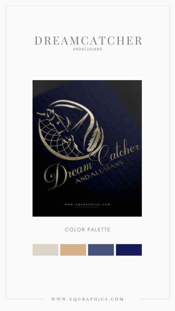 Dressage and Dreamcatcher Come Together In Custom Andalusian Logo