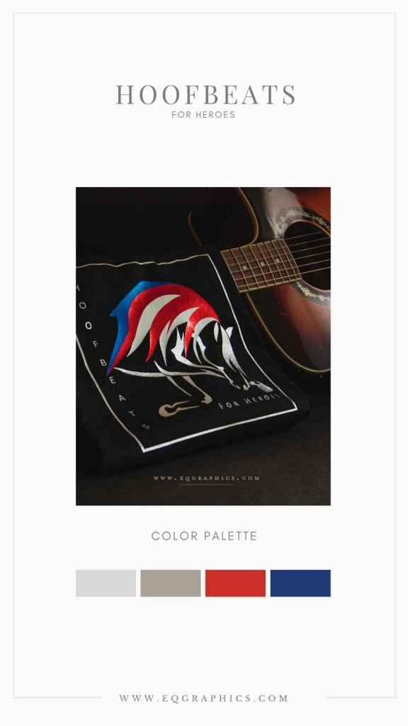 American Flag Inspired Color Palette for Patriotic Equine Assisted Therapy Logo