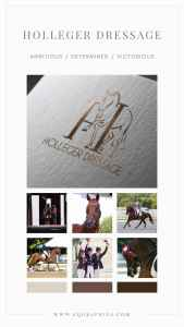 Hand Drawn Letter H Logo Design Features Dressage Horse at the Extended Trot