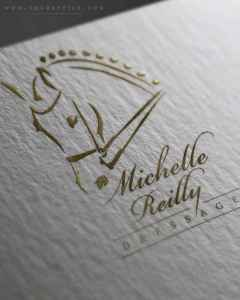 Elegant Hand Drawn Dressage Horse Logo Design With Striking Details