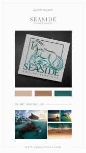 Pencil Sketch Logo for Equine Vet Featuring Powerful Horse in Ocean Waves