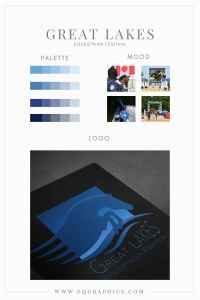 Aqua Palette Paired with Great Lakes Equestrian Festival's Custom Logo