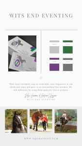 Need Equestrian Branding Inspo? Check Out This Colorful Cross Country Horse Logo
