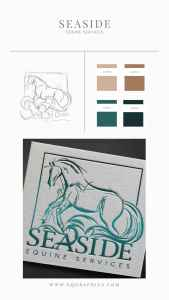 Raw Ocean Waves Sketch Gives Life to Equine Veterinarian's Edgy Sporthorse Logo