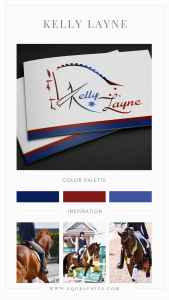 Custom Dressage Horse Logo Design With Australian Flag Inspired Accents for Olympian