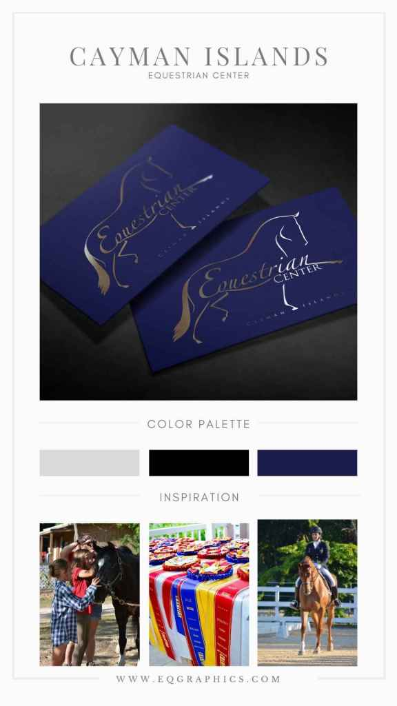 Posh Blues & Silvers Paired With Cayman Islands Equestrian Center's Chic Custom Logo