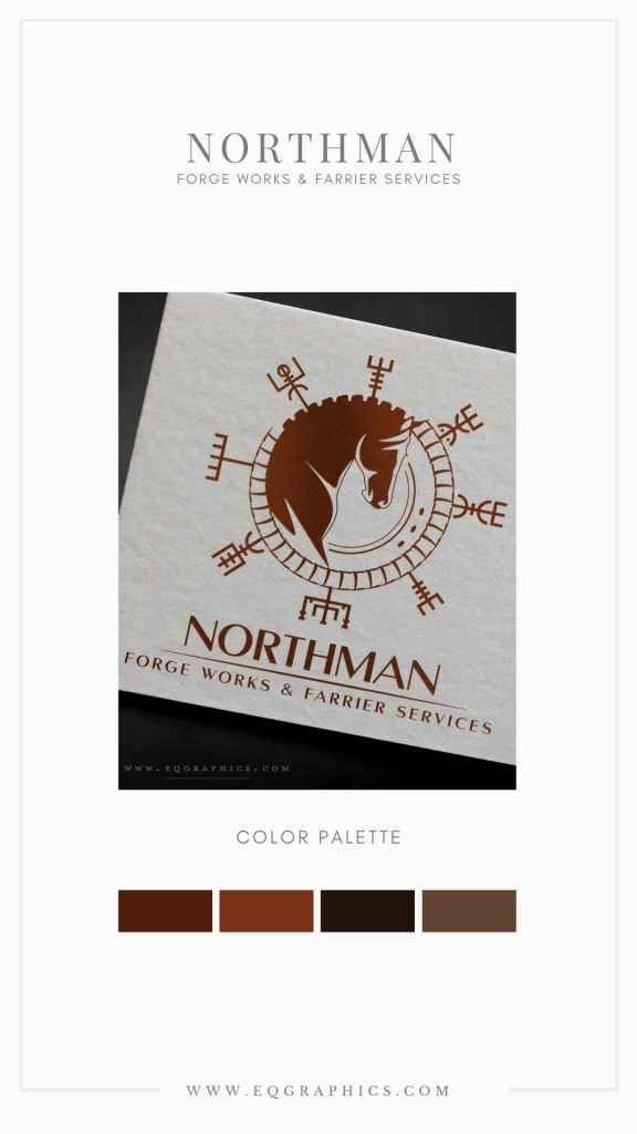Nordic Art Logo Design Adds Unique Personal Touch to Farrier's Business Branding