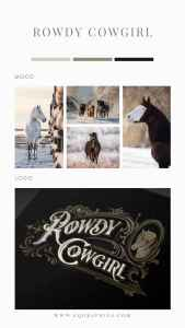 Retro Western Typography Adds Vintage Flair to Cowgirl Apparel Company's Logo