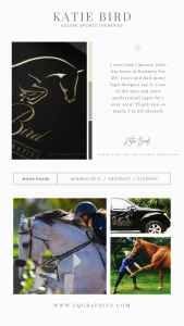 Equine Sports Therapist's Chic Custom Logo Looks Polished & Professional on Work Truck