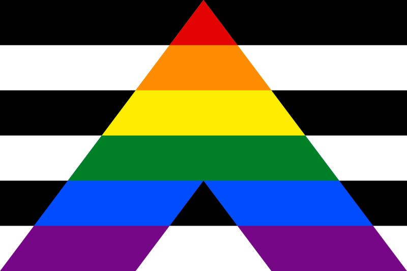 Lgbt Pride Flags- Straight Ally Flag
