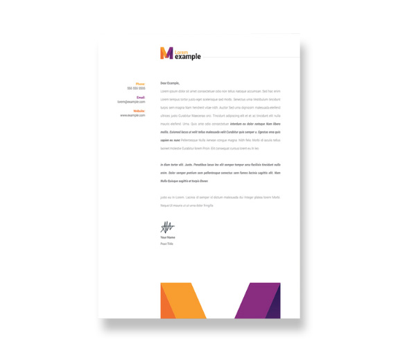 Letterhead Design Kensington London