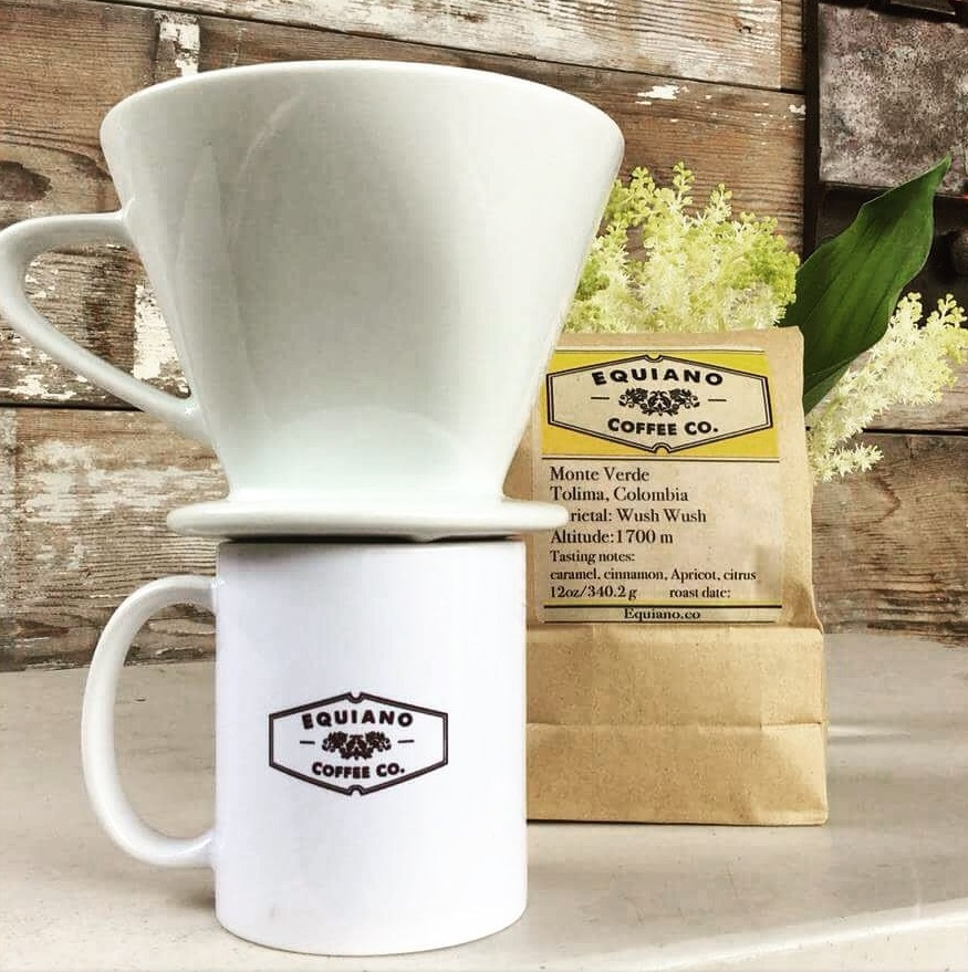 Bulk coffee and home brewing equipment are available from the Equiano Coffee website and their coffee tasting room in Eugene, Oregon.