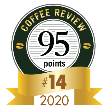 Coffee Review 14th place award for 2020