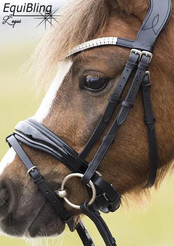 Anatomisch pony hoofdstel L'equi Zonik