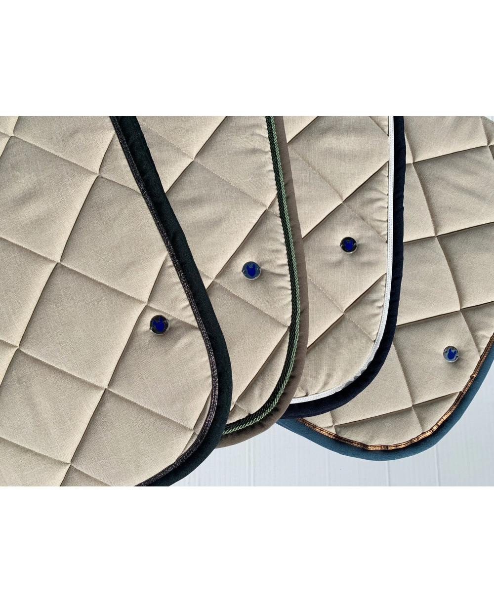 tapis beige chine marine et blanc