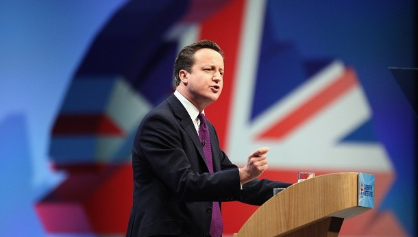 Prime Minister David Cameron Makes His Speech At The Conservative Party Annual Conference