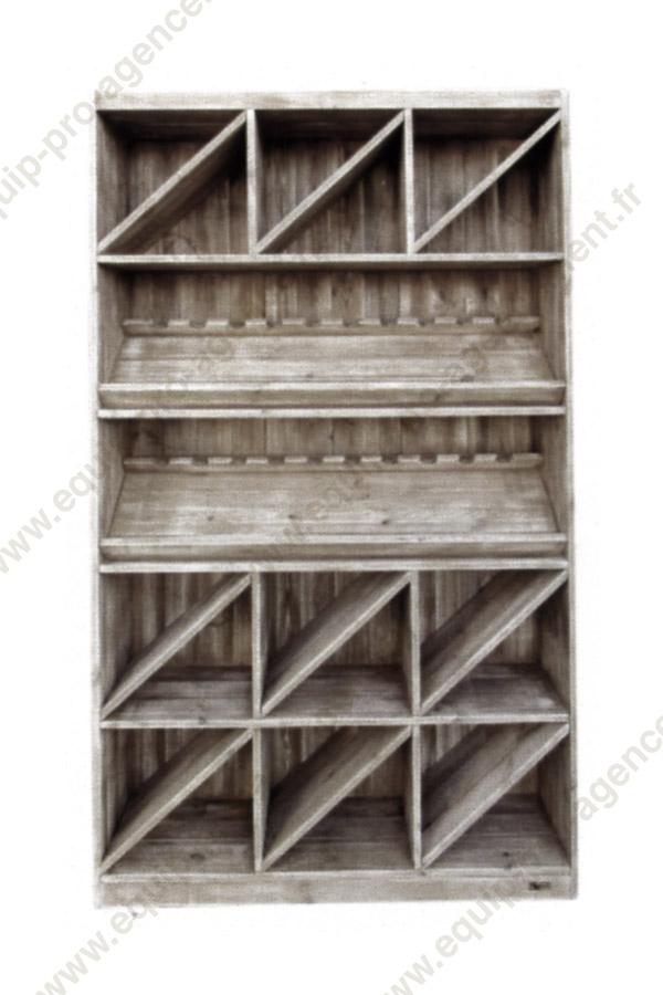 meubles bois vieilli agencement cavistes equippro agencement