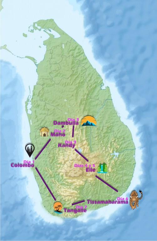 Ruta de 8 días en Sri Lanka