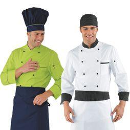 Ropa de cocinero uniformes de cocina compra online for Chaquetas de cocina originales
