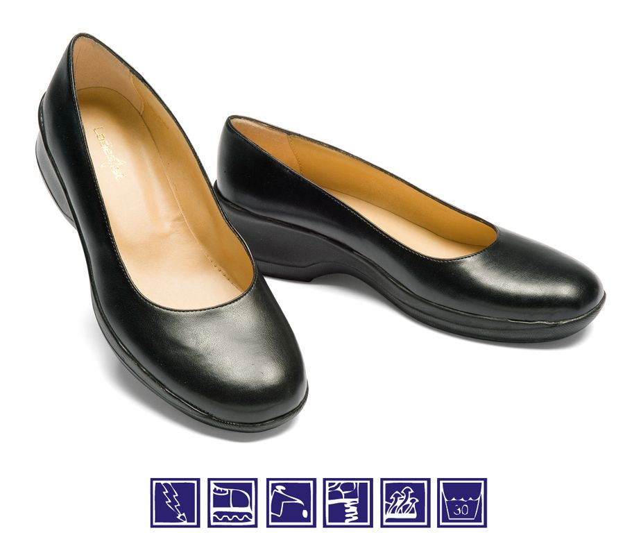 Zapato sala negro de mujer para cocina y camarera isacco - Zapatos camarera antideslizantes ...