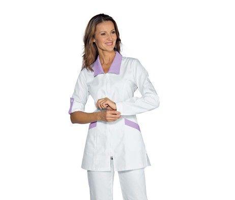 Casaca entallada cremallera mujer sanidad y enfermeras