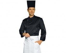 Chaqueta cocinero color negro