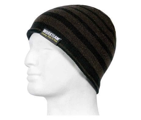 gorro interior polar negro marrón