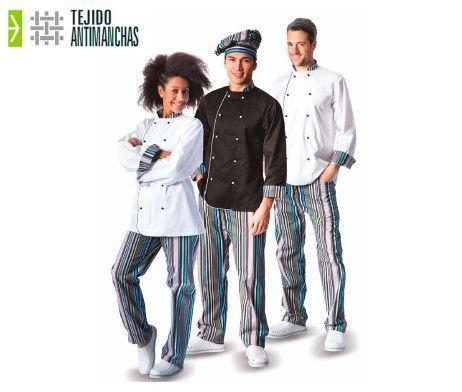chaqueta antimanchas cocinero unisex