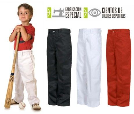 pantalón niño y niña infantil uso laboral