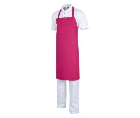 Delantal con peto color rosa fucsia