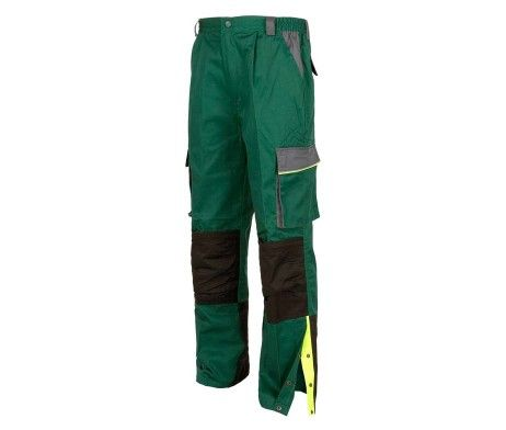 pantalón laboral multibolsillos uniformes verde