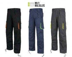 Pantalón recto multibolsillos combinado Alta Visibilidad laboral