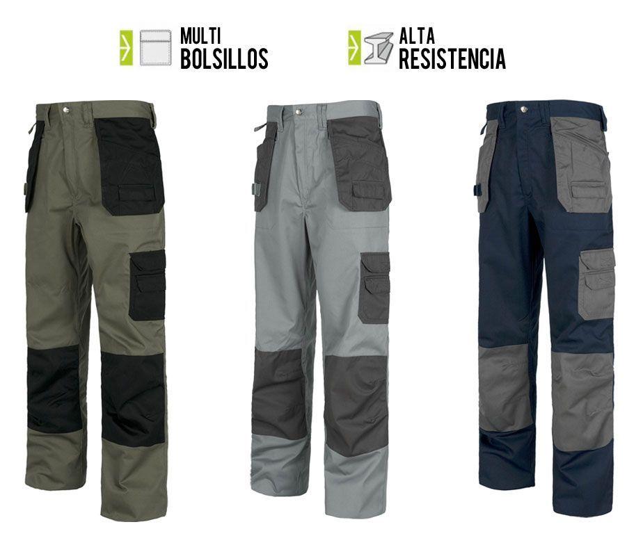 Pantal n de trabajo multibolsillos sin cintura el stica for Pantalones de trabajo multibolsillos