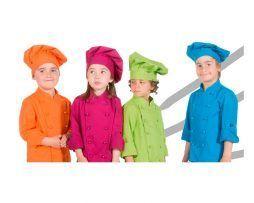 gorro infantil colores cocinero chef niños y niñas