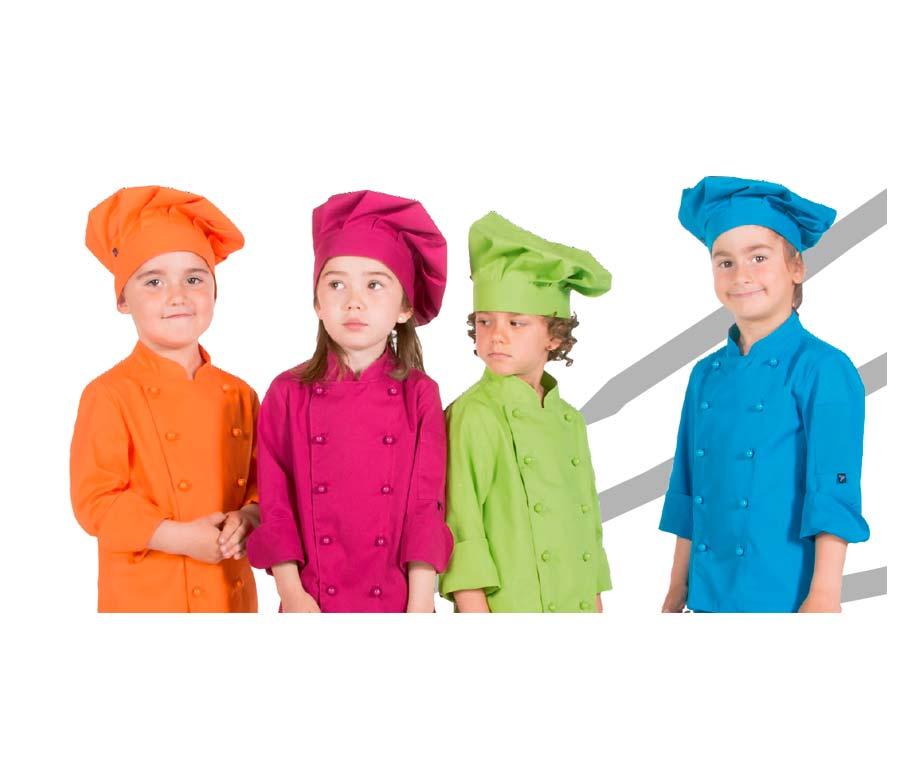 Gorro cocinero infantil blanco rojo rosa naranja azul - Delantales y gorros de cocina para ninos ...