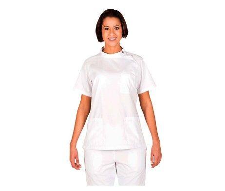 casaca enfermera mujer blanca