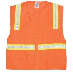 ML Kishigo 1091 Economy Multi-Pocket Surveyor Safety Vest - Orange