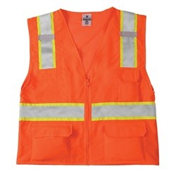 ML Kishigo 1164 Class 2 Solid Front Mesh Back Safety Vest - Orange